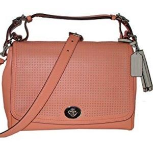 Coach Bags - NWT Coach purse pink salmon Romy Legacy collection